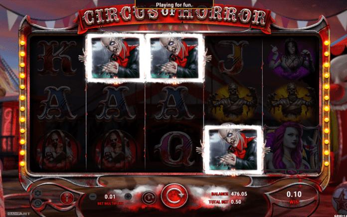 Circus of Horror, GameArt, Online Casino Bonus
