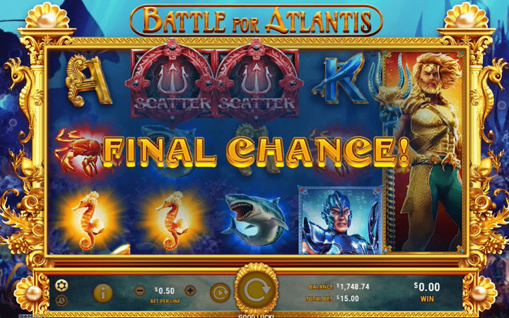 Battle for Atlantis, GameArt, Online Casino Bonus