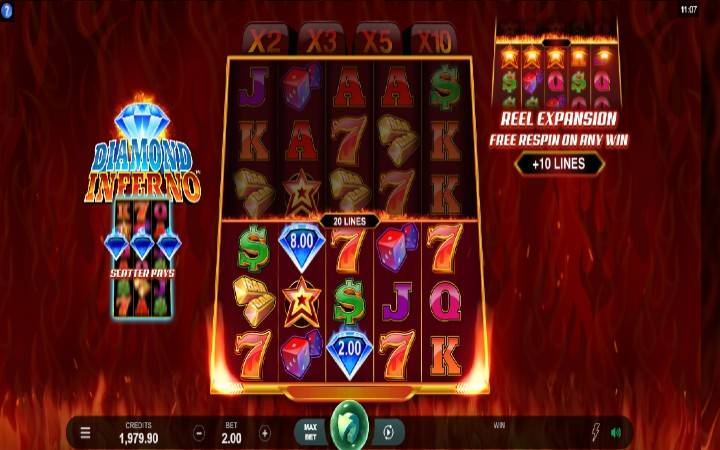 Diamond Inferno, Online Casino Bonus