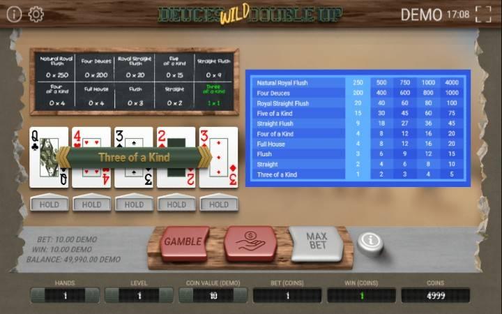 Deuces Wild Multihand, Bonus Casino