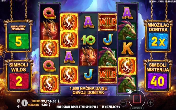 Online Casino Bonus, Drago Jewels of Fortune