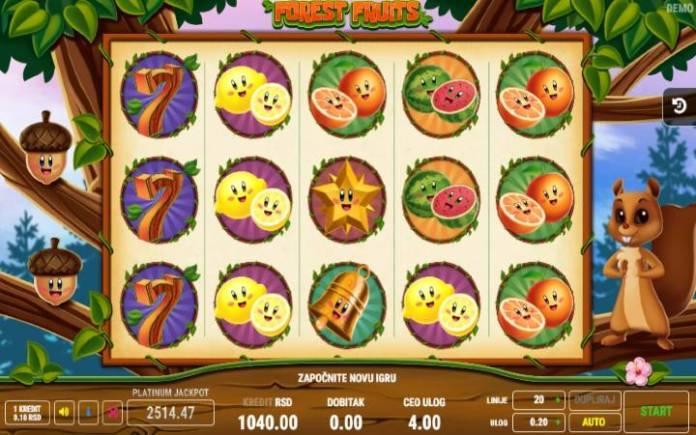 Forest Fruits Online Casino Bonus