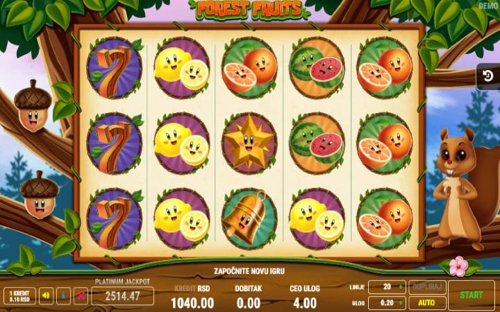 Forest Fruits Online Casino Bonus