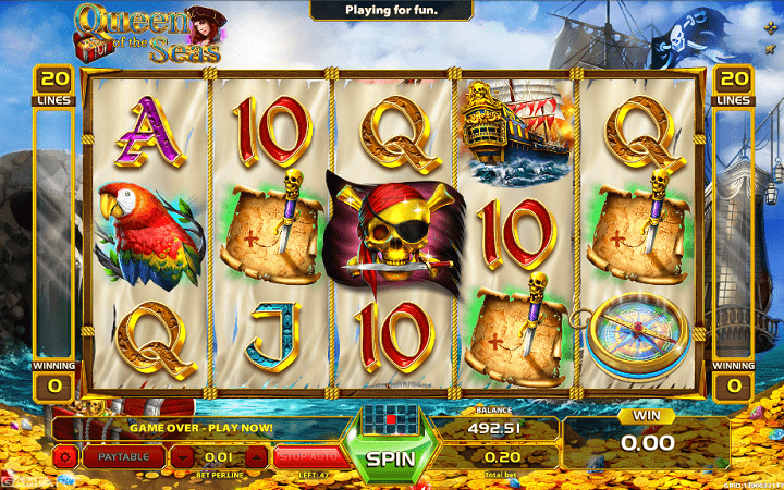 Queen of the Seas, GameArt, Online Casino Bonus