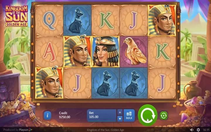 Slotovi egipatske tematike, Kingdom of the Sun, Bonus Casino