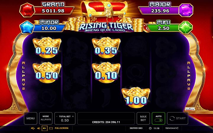 Rising Tiger, Online Casino Bonus