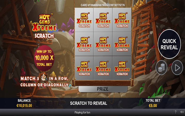 Hot Gems Xtreme Scratch Card