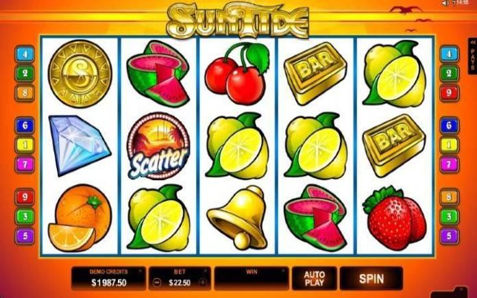 Sun Tide-osnovna igra-microgaming-online casino bonus