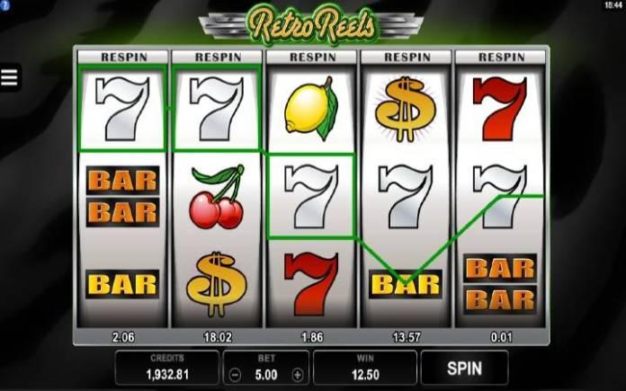 Osnovna igra-dobitna kombinacija-Retro Reels-online casino bonus