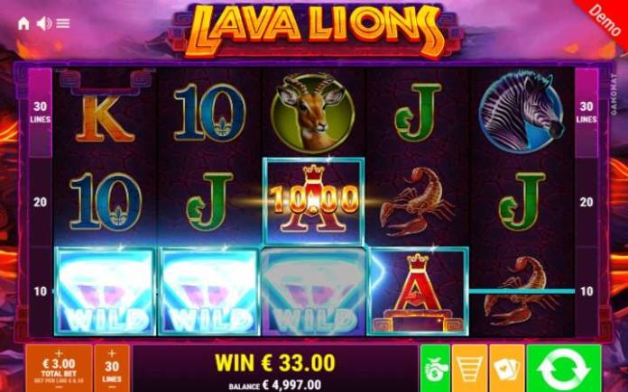 Džoker-dobitna kombinacija-lava lions-online casino bonus