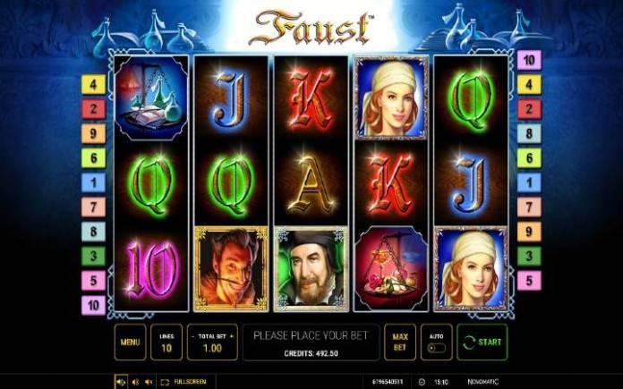 Faust-novomatic-osnovna igra-online casino bonus