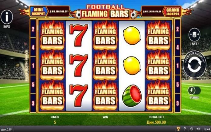 Flaming Bars-osnovna igra-online casino bonus