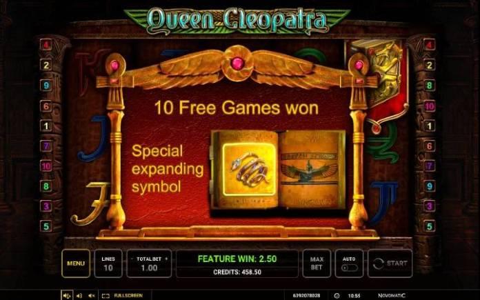 Specijalan proširujući simbol-Queen Cleopatra-online casino bonus