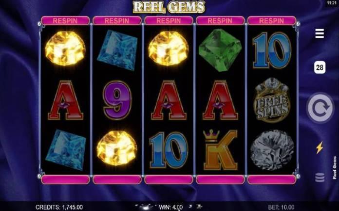 Reel Gems, dobitna kombinacija, video slot, online casino bonus