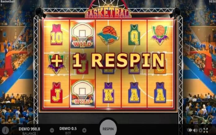 Basketball-evoplay-Respin Bonus-džoker-lepljivi džoker