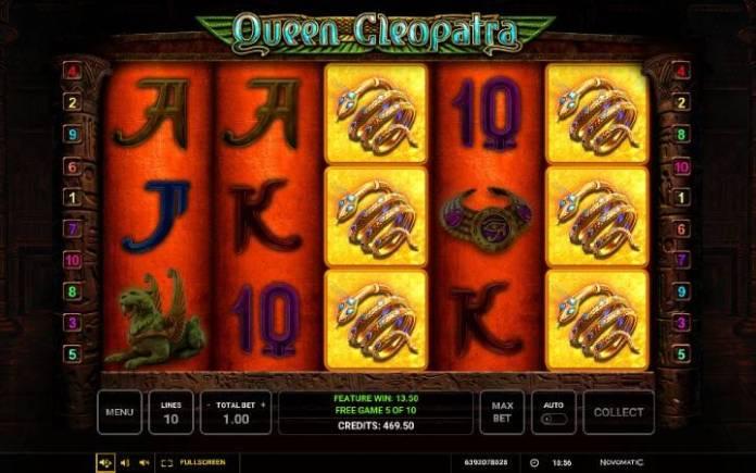 Besplatni spinovi-specijalan simbol-Queen Cleopatra-online casino bonus