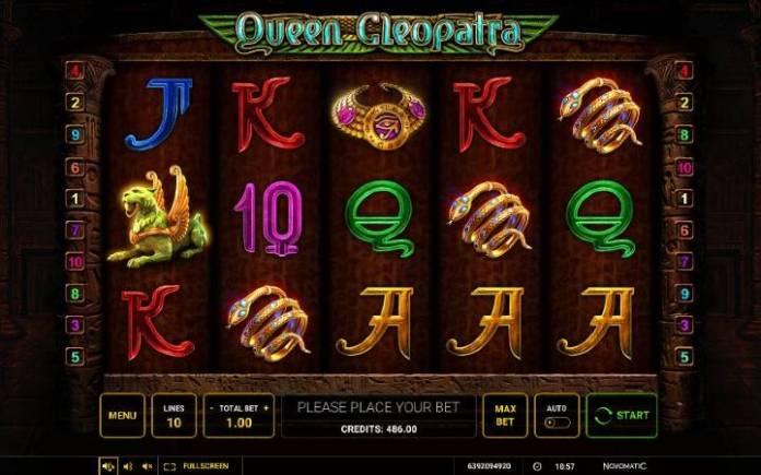 Queen Cleopatra-Novomatic-Green Tube Casino-Osnovna igra