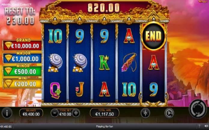 Besplatni spinovi-Atlantis Cash Collect-bonus igra