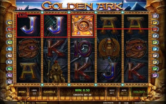 Džoker-golden ark-novomatic-dobitna kombinacija