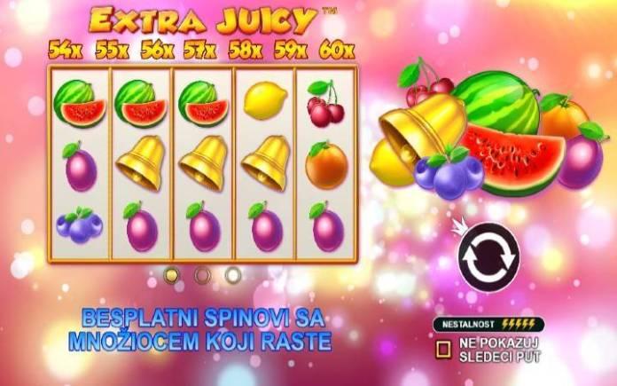 Besplatni spinovi-množilac-Extra Juicy-online casino bonus