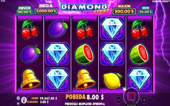 Besplatni spinovi-diamond strike-pragmatic play