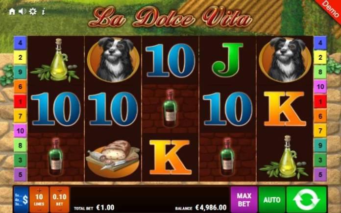 La Dolce Vita-online casino bonus-osnovna igra-gamomat