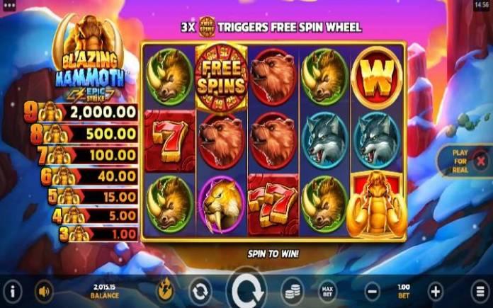 Blazing Mammoth-online casino bonus-microgaming
