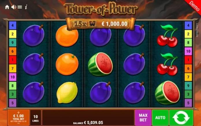 Tower of Power-online casino bonus-gamomat
