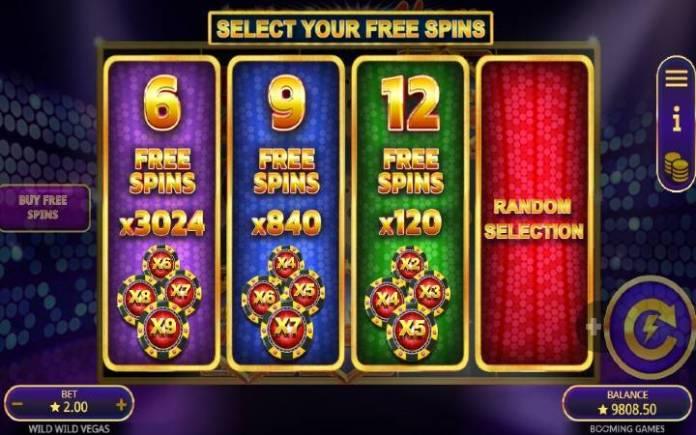 tri vrste besplatnih spinova-wild wild vegas-online casino bonus