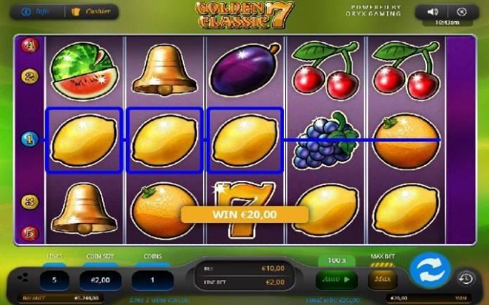 Dobitna kombinacija-Golden 7 Classic-online casino bonus