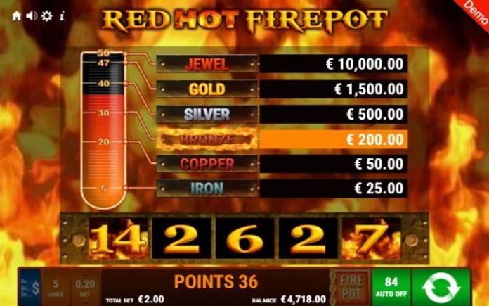 Džekpot-online casino bonus-take 5 red hot firepot