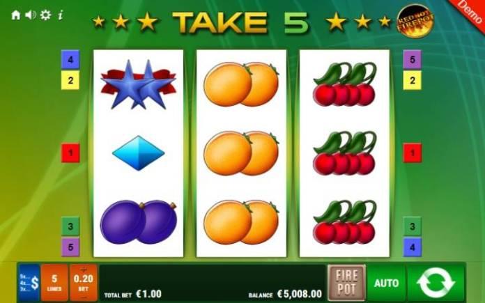 Take 5 Red Hot Firepot-online casino bonus-gamomat