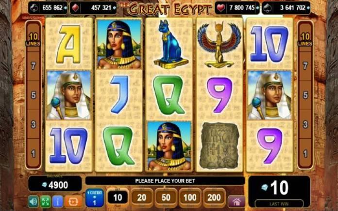 the great egypt-online casino bonus-egt