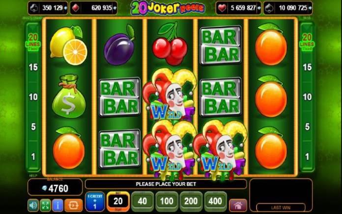 20 joker reels-online casino bonus-egt