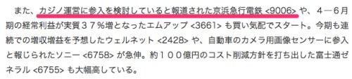 日経平均は2円高スタート、カジノ参入報道の京急が急伸_(サーチナ)_-_Yahoo_ニュース