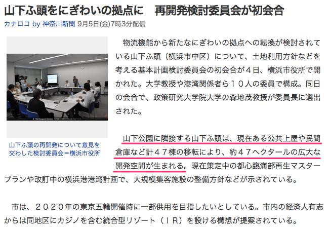 山下ふ頭をにぎわいの拠点に 再開発検討委員会が初会合_(カナロコ_by_神奈川新聞)_-_Yahoo_ニュース