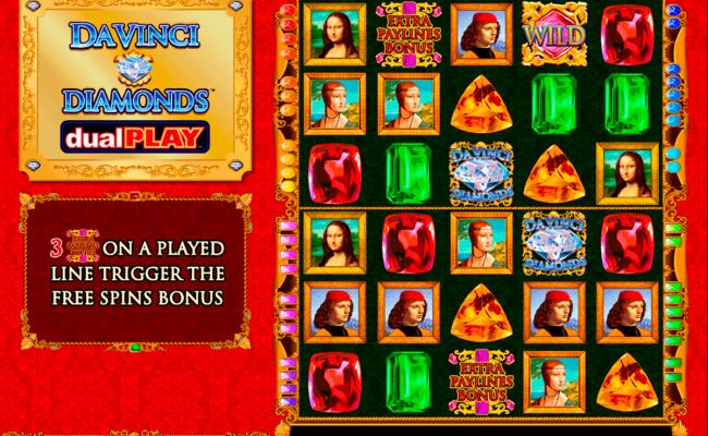 Play Da Vinci Diamond Dual Play Free Slot Igt Casino