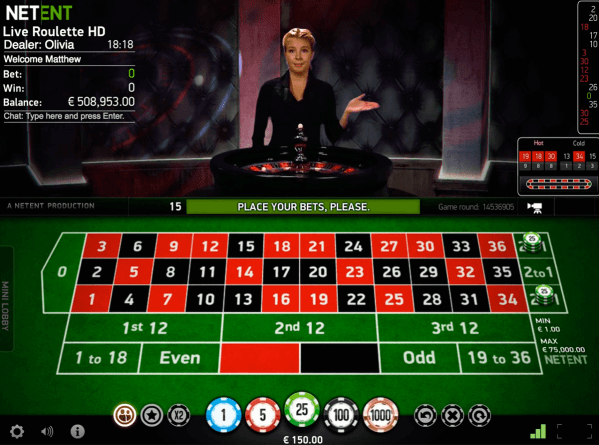 Play Live Roulette by NetEnt | FREE Roulette Games