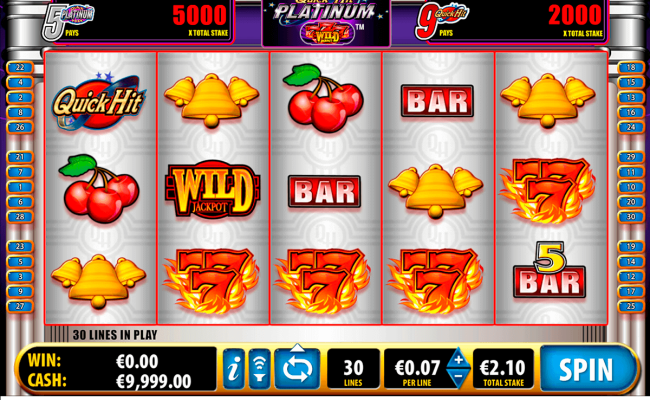 Play Quick Hit Platinum Free Slot Bally Casino Slots Online