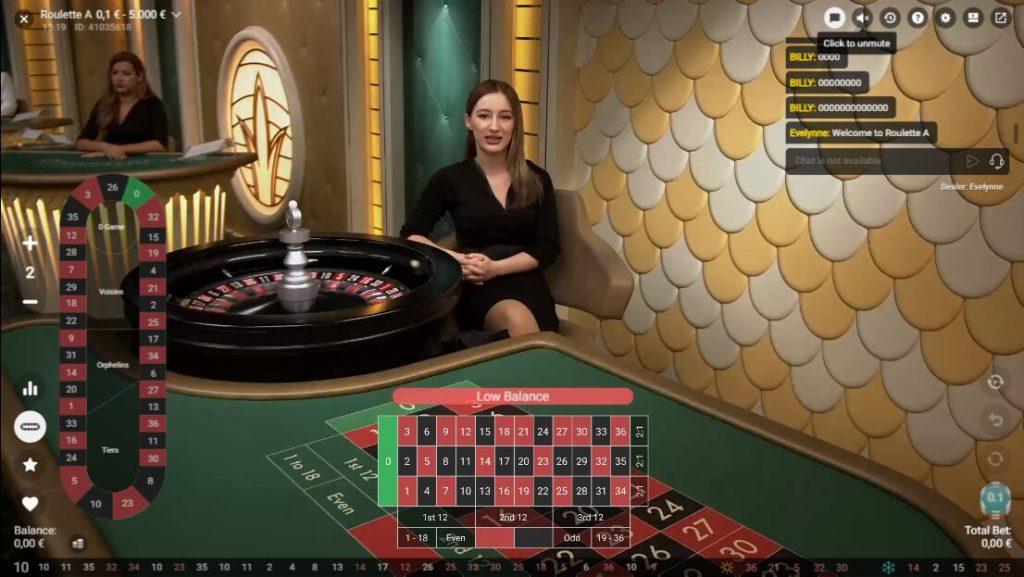 Live Roulette Spel