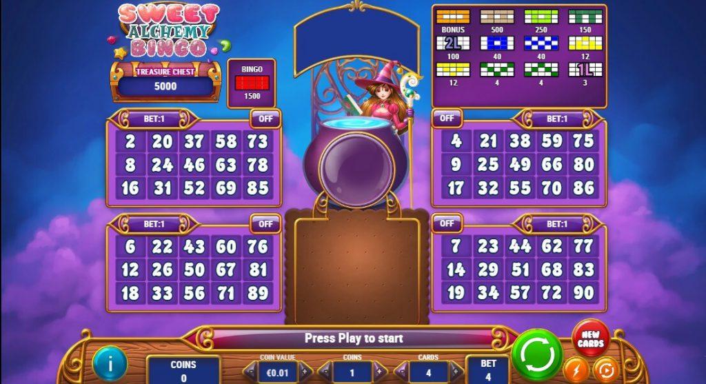 Online Sweet Alchemy Bingo Spel