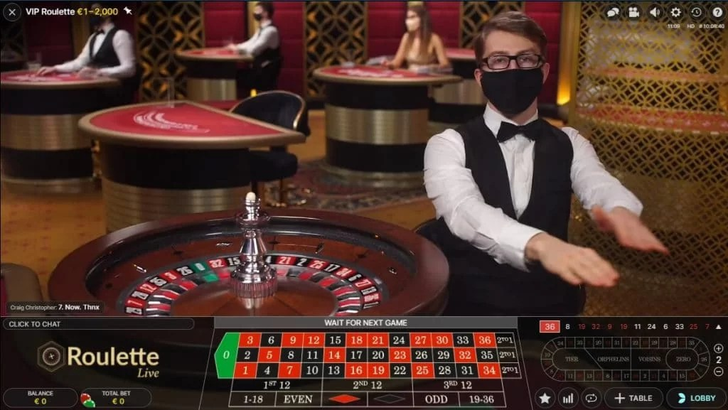 Play Frank Live Casino VIP Roulette