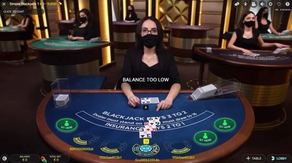 Simple Casino Live Blackjack