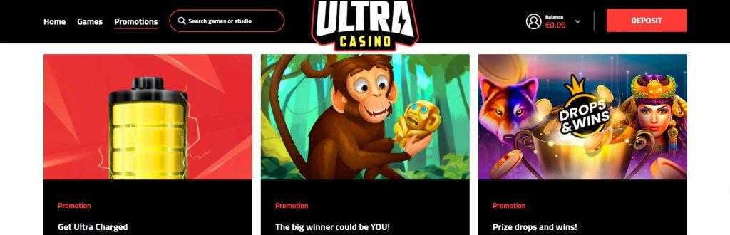 Ultra Casino Promoties