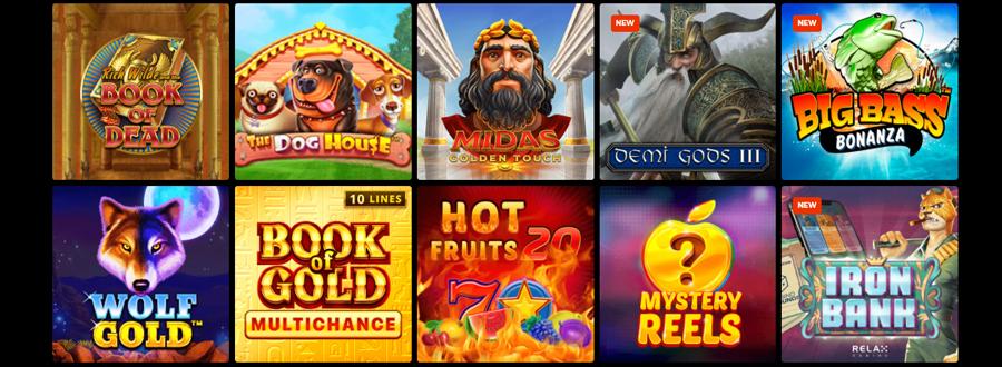 De spellen op N1 Casino