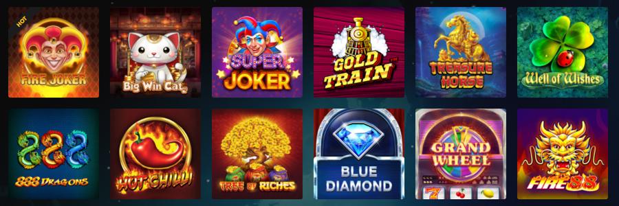Rocket Casino spelaanbod
