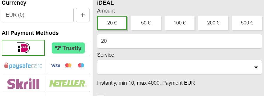 Storten en Uitbetalen met iDeal