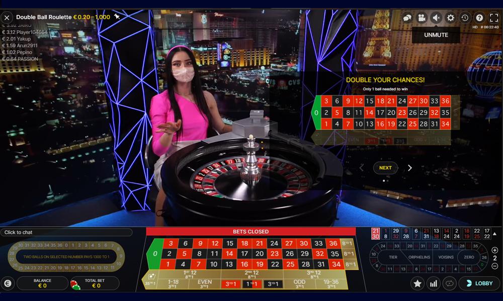 Double ball Roulette kan je inzet tot maar liefst 1300 maal verhogen