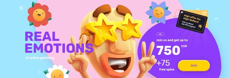 Emojino casino is een vrolijk casino met veel slots, tafelspellen en leuke tounaments