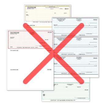 No more pre printed checks